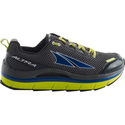 Altra Olympus Trail Running Shoe - Men's Gunmetal/Lime Punch/Mazarine Blue, 9.5