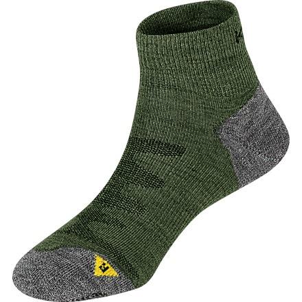 KEEN Olympus Lite 1/4 Crew Socks - Men's Dark Green, M