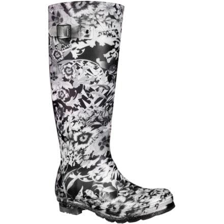 Kamik Flora Rain Boot - Women's Black/White, 9.0