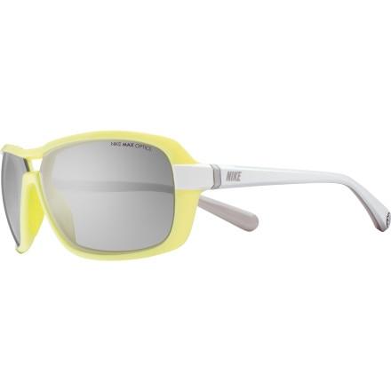 Nike Nike Racer Sunglasses - Women's Electric Yellow/White/Grey Silver Flash, One Size