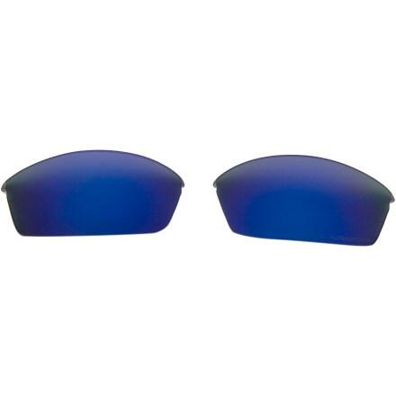 Oakley Flak Jacket Standard Replacement Lenses Deep Blue Iridium Polarized, One Size
