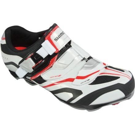 Shimano SH-XC60 Shoes White/Black/Red, 47.0