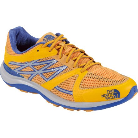 The North Face Hyper-Track Guide Trail Running Shoe - Men's Koi Orange/Nautical Blue, 12.0