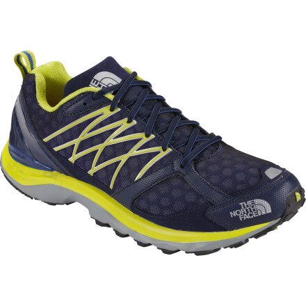 The North Face Double-Track Guide Trail Running Shoe - Men's Nautical Blue/Sulphur Spring Green, 9.0