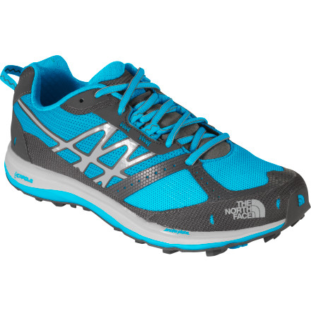 The North Face Ultra Guide Trail Running Shoe - Women's Meridian Blue/Dark Shadow Grey, 8.0