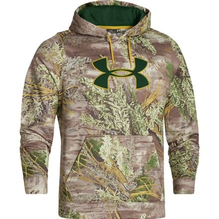 Image of Under Armour Camo Big Logo Pullover Hoodie - Men's