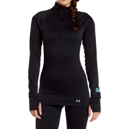 photo: Under Armour Women's Base 3.0 1/4 Zip base layer top