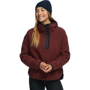 Sherpa Snap-Up Pullover - Women's