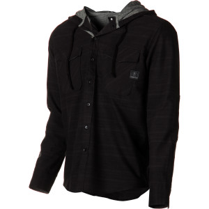 Spades Hooded Flannel Shirt - Long-Sleeve - Men's