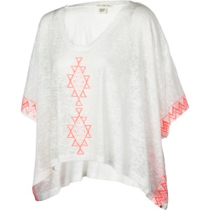 Border Line Poncho Shirt - Short-Sleeve - Women's