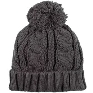 Cable Pom Beanie - Women's