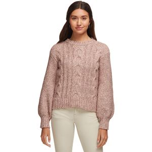 Cable Knit Bell Sleeve Sweater - Women's