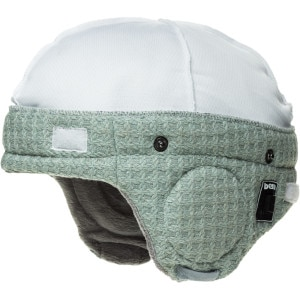 Adjustable Audio Grey Knit Helmet Liner - Women's
