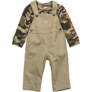 Washed Ripstop Bib Overall Set - Infant Boys'