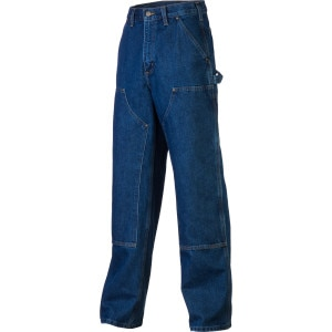 Double-Front Logger Dungaree Denim Pant - Men's