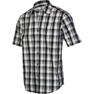 Essential Plaid Open Collar Shirt - Short-Sleeve - Men's