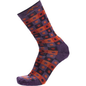 Merino Wool Dots and Squares Light Sock - Women's