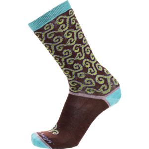 Merino Wool Spirals Light Crew Sock - Women's