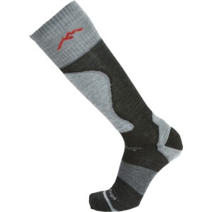 Merino Wool True Seamless Over-The-Calf Padded Ultra-Light Ski Sock - Men's