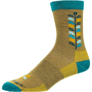 Merino Wool Mini Flower Crew Light Sock - Women's