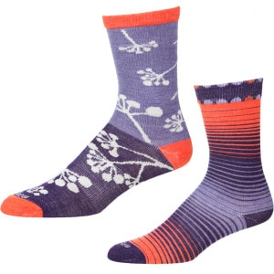 Sunrise/Twig Sock - 2 Pack - Girls'
