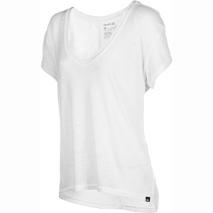 Hurley Solid Drapy Rib V T-Shirt - Short-Sleeve - Women's