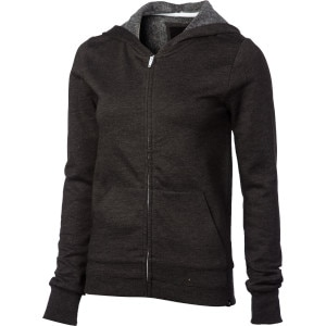 Solid Slim Fleece Full-Zip Hoodie - Women's