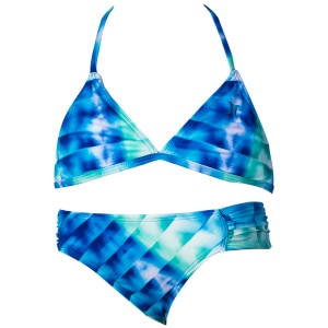 Looking Glass Triangle & Tab Side Swimsuit - Girls'