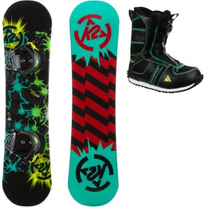 K2 Snowboards Mini Turbo Grom Package XS - Boys'