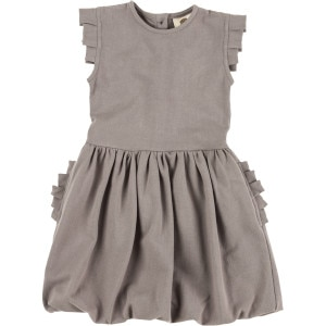 Pleated Arm Ruffle Pocket Dress - Toddler Girls'