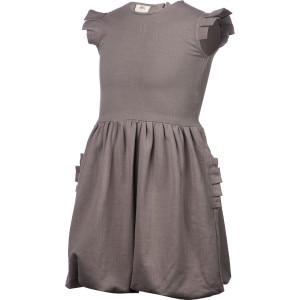 Pleated Arm Ruffle Pocket Dress - Girls'