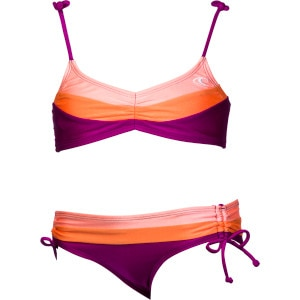 Color Block Bandeau Swimsuit - Girls'