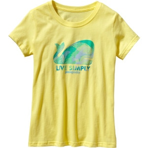 Patagonia Live Simply Geometric Whale T-Shirt - Short-Sleeve - Girls'