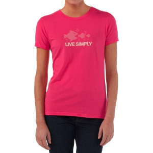 Live Simply Fish T-Shirt - Short-Sleeve - Women's