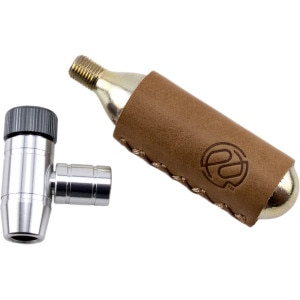 Shiny Object CO2 Inflator with Leather Sleeve and Cartridge