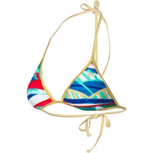 Golden Maze Fixed Tri Bikini Top - Women's