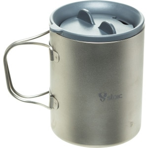 Ti Double Wall Mug w/Lid - 450ml