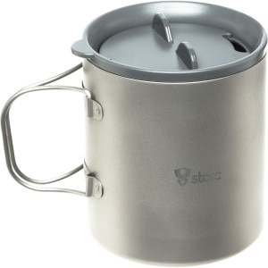 Ti Double Wall Mug w/Lid - 600ml