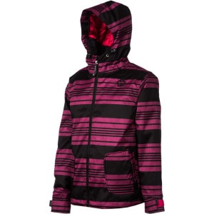 Sessions Munchie Heather Stripe Snowboard Jacket - Girls'