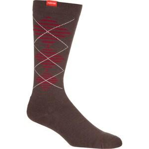 Vim & Vigr Wool Striped Argyle Compression Socks - Women's