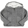 Cable Faux Fur Cardigan - Infant Boys'
