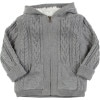 Cable Faux Fur Cardigan - Toddler Boys'