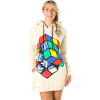 Nomis Rubiks Oversized Hooded Dress - Women's