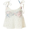 Daisy Rhapsody Crochet Tankini With Bandeau Bikini Top - Women's