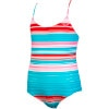 Carefree Crusin' Sporty Tri One-Piece Swimsuit - Girls'