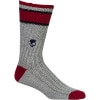 Marled with Stripe Crew Sock