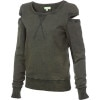 Cutout Fleece Pullover Sweatshirt - Women's