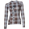 Sessions Diffusion Plaid Crew Shirt - Long-Sleeve - Women's