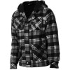 Grey Wolf Sherpa Full-Zip Flannel Hoodie - Men's