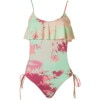 Sunrise Tie Dye Whiskey One-Piece Swimsuit - Women's